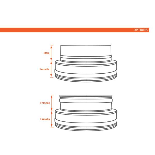 Adaptateur conduit double à simple paroi PRO Noir/Anthracite