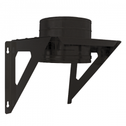 Support charge murale Inox double paroi Noir / Anthracite PRO