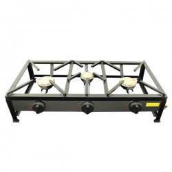 Cuisinière réchaud à gaz portable 3 feux 90x30