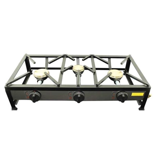 Cuisinière réchaud à gaz portable 3 feux 80x40