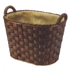 Panier à bois en Osier oval 45 x 37 x 40cm