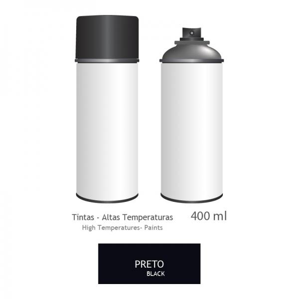 Peinture haute température bombe 400ml - NOIR-900 MAT