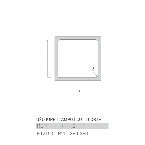 Évier à encastrer HEMATITE inox 1 bac 38 X 38