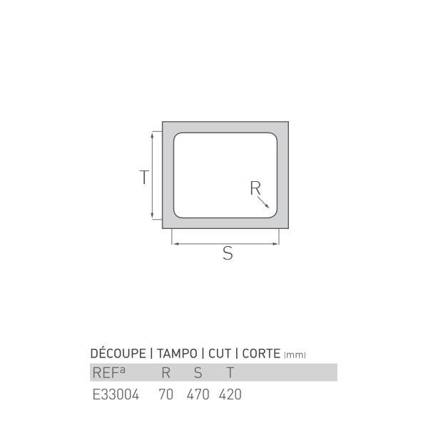 Évier inox à encastrer AGATE 1 bac 45 X 40 X 16