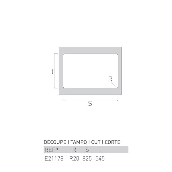 Évier inox à encastrer RIVIÈRE 1 ½ bac 85 X 55