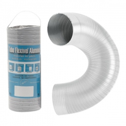 Aération - VMC - Gaine flexible / extensible Alu blanc 3M
