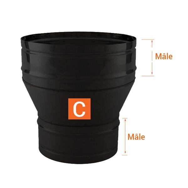 Réducteur cheminée - Conduit Noir ou Anthracite PRO