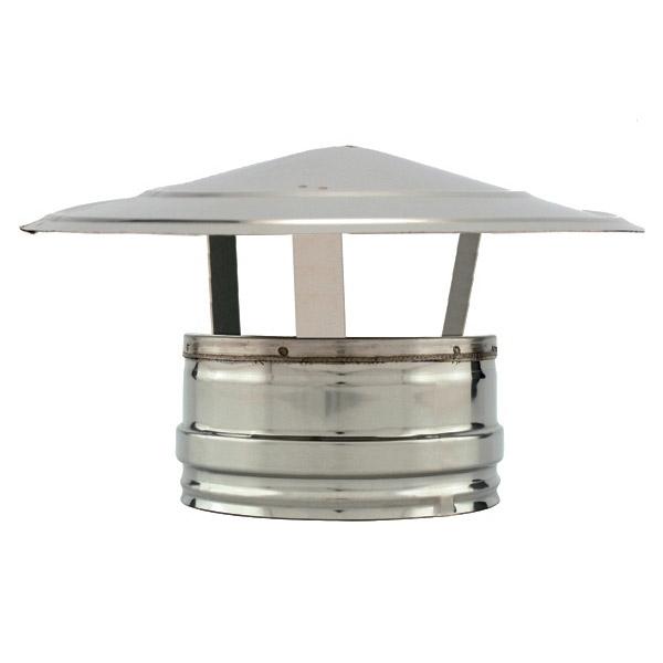 Chapeau chinois conduit cheminée inox double paroi
