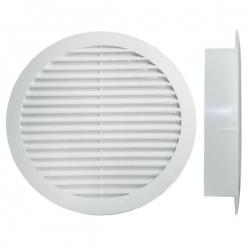 Grille polypropylène d'aération et ventilation Ø140