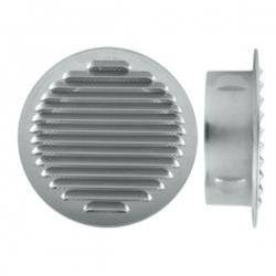 Grille d'aération à encastrer aluminium Ø100