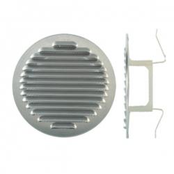 Grille d'aération à clipser aluminium Ø120/160
