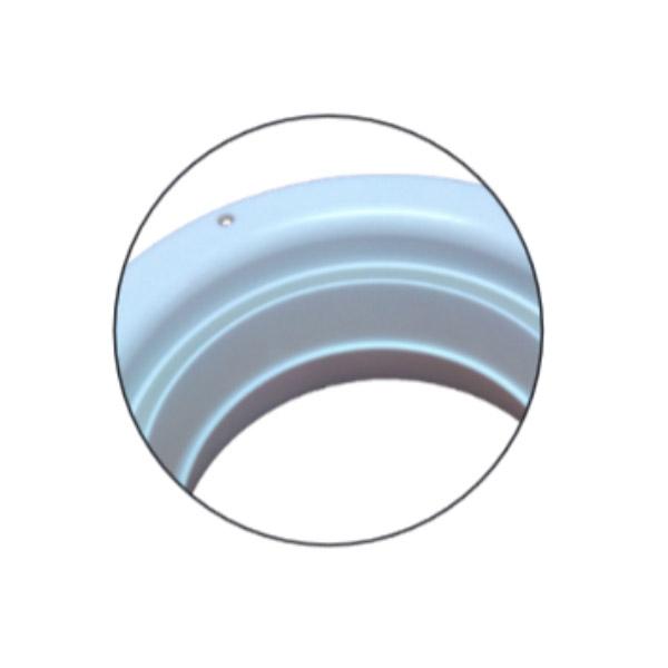 Bouche d'extraction polypropylène à encastrer Ø125