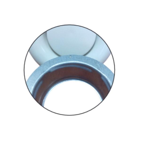 Bouche d'extraction en métal blanc Ø150