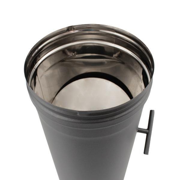 Tuyau 1 M à régulateur de tirage - Conduit Noir ou Anthracite PRO