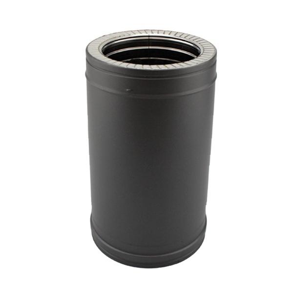 Tuyau 33 CM - Conduit fumée double paroi Noir / Anthracite